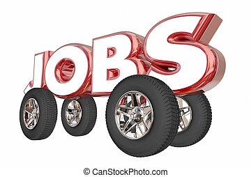 仕事, キャリア, 自動車の産業, イラスト, 自動車エンジニア, 3d