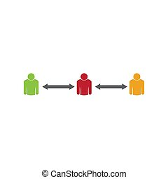 仕事, グループ, アイコン, 人々, ベクトル