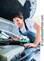 仕事, サービス, 自動車, ワークショップ, 機械工, 自動車