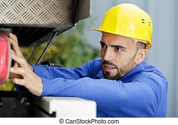仕事, トラック, 機械工, マレ