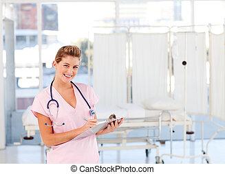 仕事, ブロンド, 看護婦, 病院