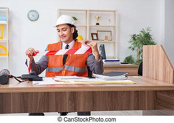 仕事, マレの若者, オフィス, 建築家