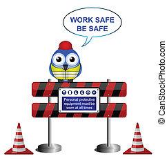 仕事, メッセージ, 安全である