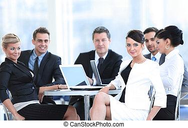 仕事, ラップトップ, ビジネス 人々, 成功した, テーブル, カフェ
