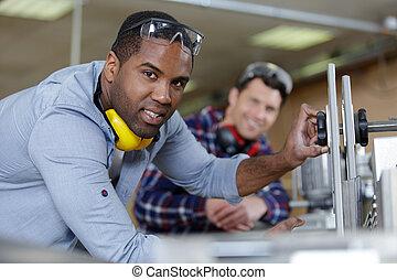 仕事, 人, 工場, 保護, 耳