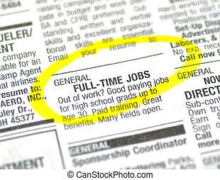 仕事, 広告
