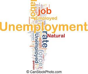 仕事, 概念, 背景, 失業
