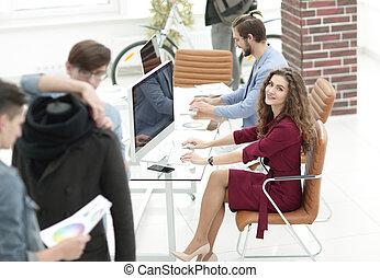 仕事, 現代, オフィス, デザイナー, グループ
