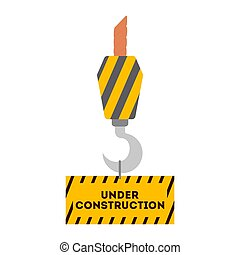 仕事, 道, barrier., 建設, 印。, オレンジ, 警告