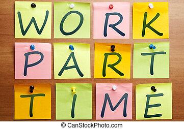 仕事, 部分, 広告, 時間