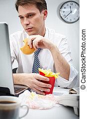 仕事, 食べること
