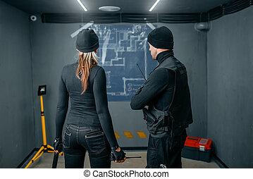 仕事, 2, 地下, 計画, 強盗, rob
