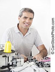 仕立屋, 裁縫, 工場, 仕事, 幸せ