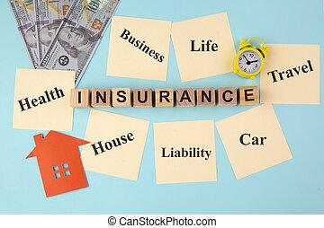 付せん, 黄色, メモ, 概念, 保険