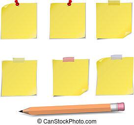付着力の ノート, ピン, 鉛筆