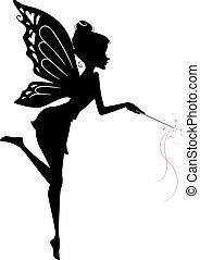 仙女, 黑色半面畫像