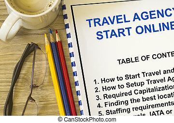 代理店, 旅行, 始めなさい, ビジネス, いかに