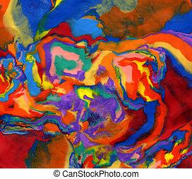 代用粘土, 明亮, 生動, 迷幻藥, colors.