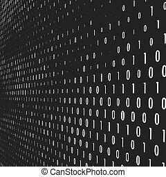 代碼, 二進制, 矢量, 背景。