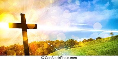 代表, 風景, 交差点, 背景, 自然, 宗教