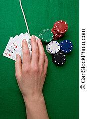 以联机方式, 扑克牌