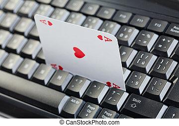 以联机方式, 扑克牌, 赌博