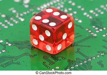以联机方式, 赌博