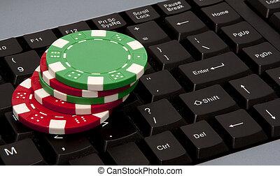 以联机方式, 赌博, 得克萨斯, hold-em
