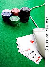 以联机方式, 赌博, 概念