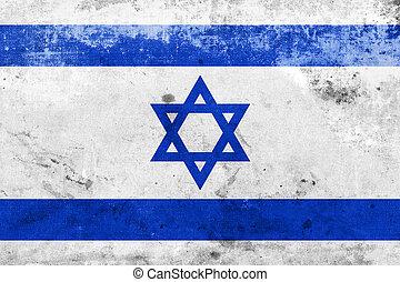 以色列, grunge, 旗