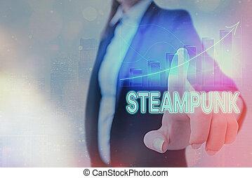 仮数部, ポイント, 提示, 上向きに, steampunk., 19thcentury, 行く, 写真, 印, societies, 支配された, denoting, シンボル, フィクション, テキスト, 概念, 取引, 矢, achievement., 科学