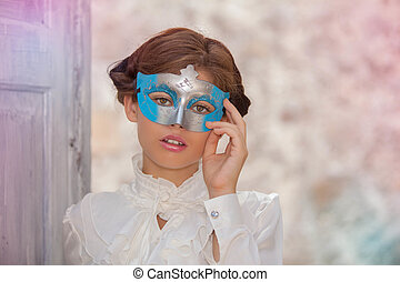 仮面舞踏会, 無実, 顔, 女, マスク