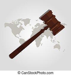 仲裁, 地図, 木製である, 国, 司法権, 実行, 法的, インターナショナル, 正義, 評決, 権威, 場合, スーツ, 小槌, 世界, 法律, ハンマー