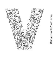 仿造, 大寫字母, 花, 摘要, v