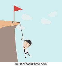 企业家, 攀登, a, 山