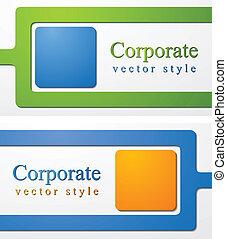 企業である, 抽象的, ベクトル, デザイン, ビジネス