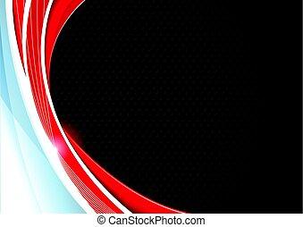 企業である, 概念, 赤い黒字, 灰色, 対照, バックグラウンド。, ベクトル, illustration.