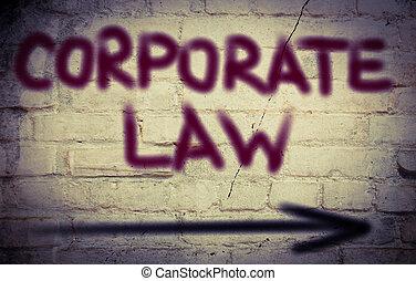 企業である, 法律, 概念