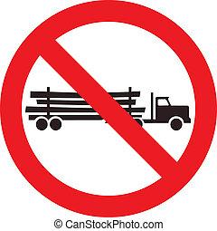 伐採, いいえ, トラックの印