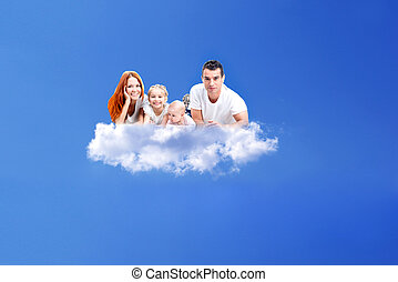 休む, 家族, 雲