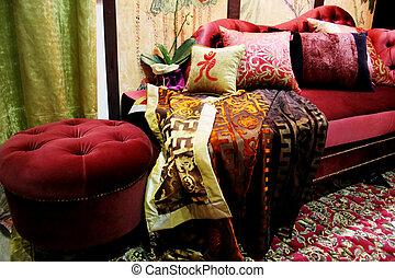 休息室, 天鵝絨