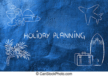 休日の旅行, 計画, industry:, 予約