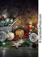 休日の 装飾, 照ること, 星, クリスマス