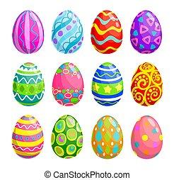 休日, アイコン, 卵, イースター, 宗教, egghunting