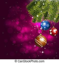 休日, クリスマス, ボール