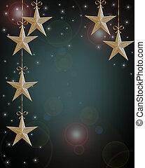 休日, クリスマス, 背景, 星