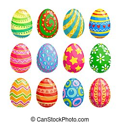 休日, 卵, イースター, 宗教, アイコン, egghunting