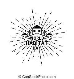 休日, 型, 世界, グランジ, イラスト, 日, 光線, 生息地, 太陽, lettering., 背景