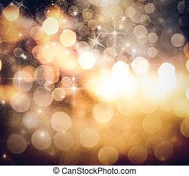 休日, 背景, の, クリスマスライト