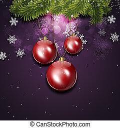 休日, 雪, クリスマスカード